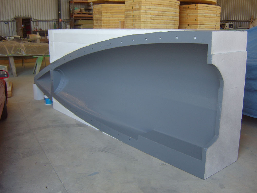 nose cone mould rh side